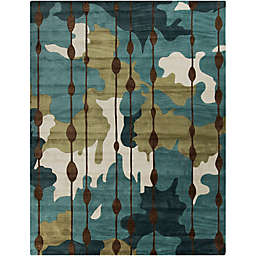 Surya Lava Modern Abstract Rug in Blue/Green