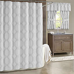 J. Queen New York™ Soho 54-Inch x 78-Inch Shower Curtain in Silver