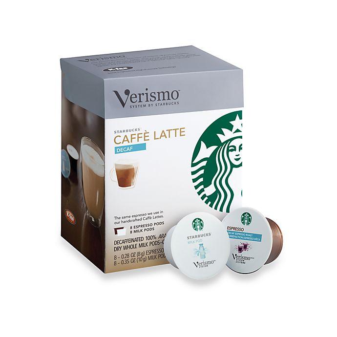 Starbucks® Verismo® 16-Count Decaf Caffe Latte Pods