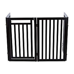 Trixie Pet Products Convertible Wooden Dog Gate in Brown