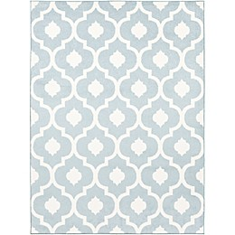 Surya Horizon Woven Area Rug in Denim/Ivory