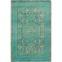 Surya Haven Hand-Knotted Area Rug in Green/Blue