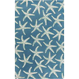 Surya Lighthouse Starfish Rug in Blue/Green