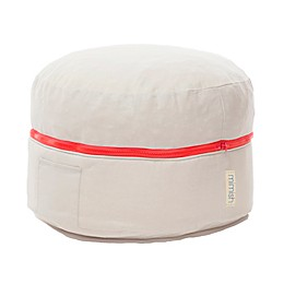 Mimish Exposed Zipper Storage Pouf