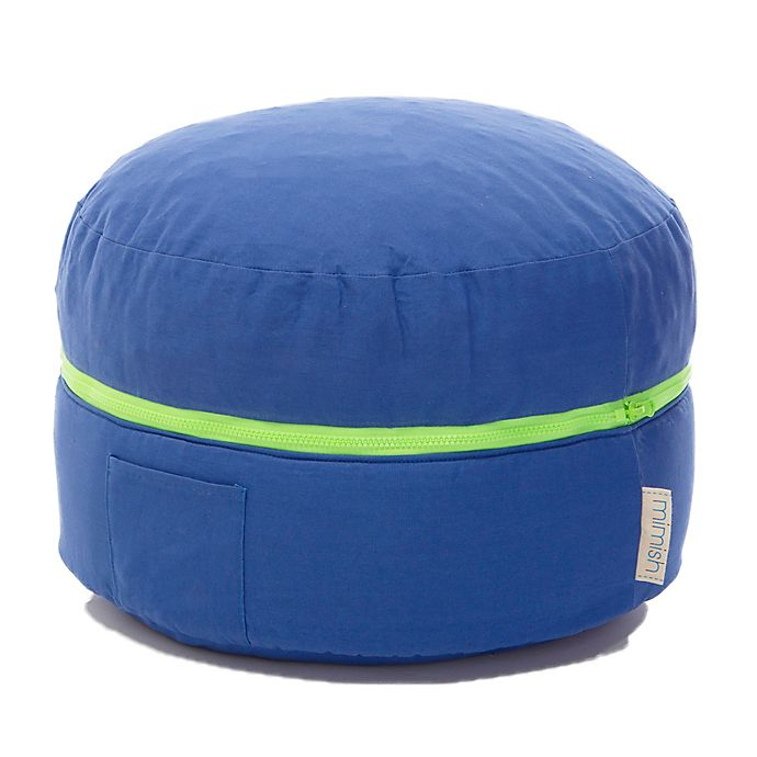 Alternate image 1 for Mimish® Storage Bean Bag Pouf in Blue