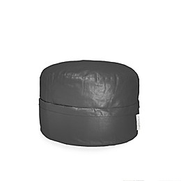Mimish Covered Zipper Metallic Storage Pouf