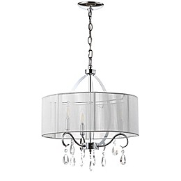 Safavieh Vienna 3-Light Chandelier in Chrome