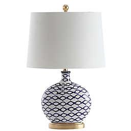 Safavieh Makenna LED Table Lamp in Blue/White