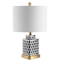 Safavieh Alisha LED Table Lamp in Black/White