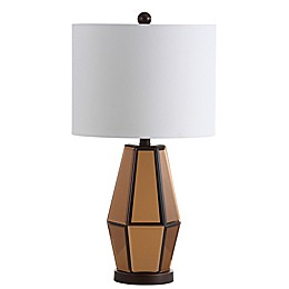 Safavieh Amelie Table Lamp in Copper with White Shade