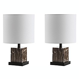 Safavieh Abril LED Table Lamps in Dark Brown (Set of 2)
