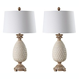 Safavieh Briar LED Table Lamps in Cream/Brown (Set of 2)