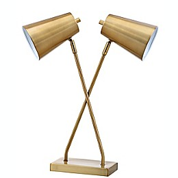 Safavieh Kera 2-Light LED Table Lamp in Gold