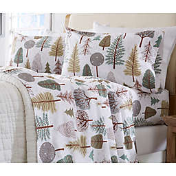 Great Bay Home Stratton Collection Snowy Forest Flannel Sheet Set