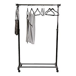Mind Reader Heavy Duty Garment Rack with Extendable Arms in Silver