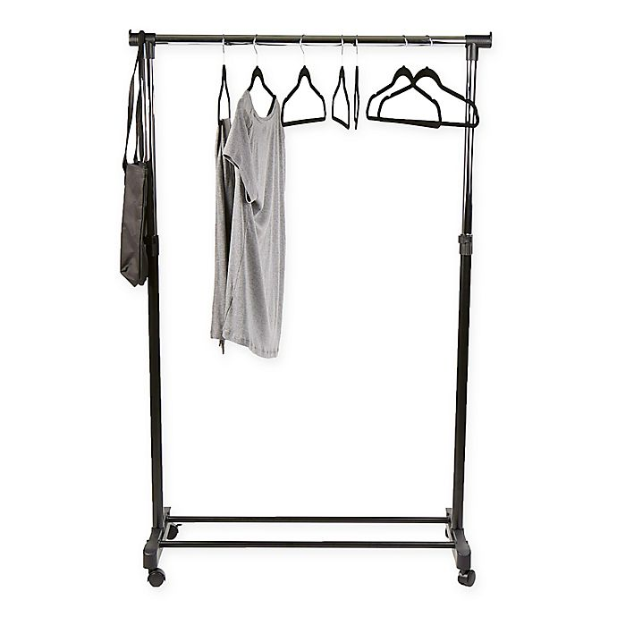 Alternate image 1 for Mind Reader Heavy Duty Garment Rack with Extendable Arms in Silver