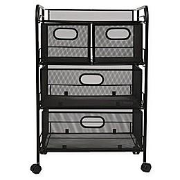 Mind Reader 4-Drawer Mesh Storage Cart