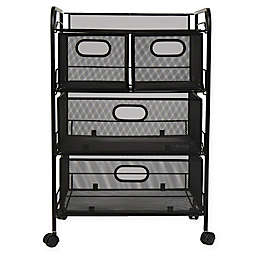 Mind Reader 4-Drawer Mesh Storage Cart