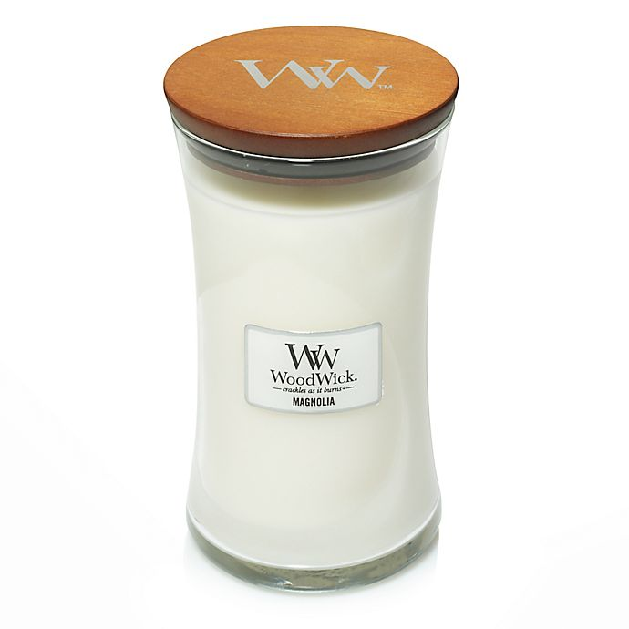 Alternate image 1 for WoodWick® Magnolia Large Hourglass Jar Candle