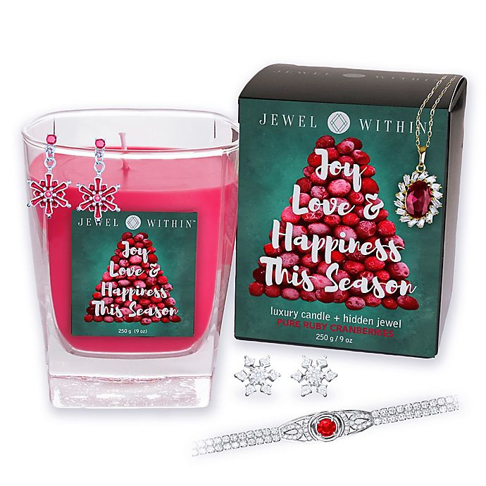 Alternate image 1 for Pure Ruby Cranberries Hidden Jewelry 9 oz. Candle