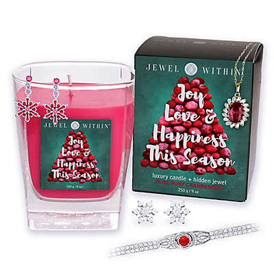 Pure Ruby Cranberries Hidden Jewelry 9 oz. Candle