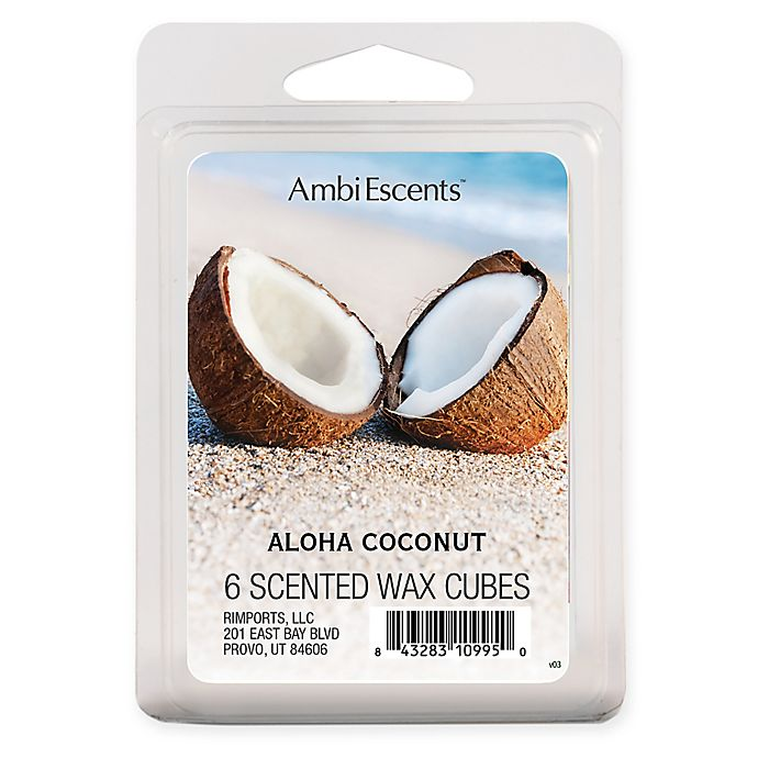 Alternate image 1 for AmbiEscents™ 6-Pack Aloha Coconut Scented Wax Cubes