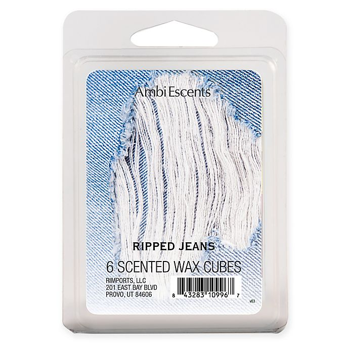 Alternate image 1 for AmbiEscents™ 6-Pack Ripped Jeans Scented Wax Cubes