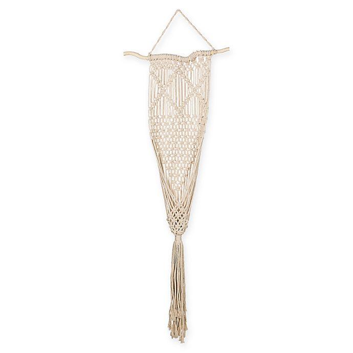 Alternate image 1 for Macrame Flower Pot Hanger in White