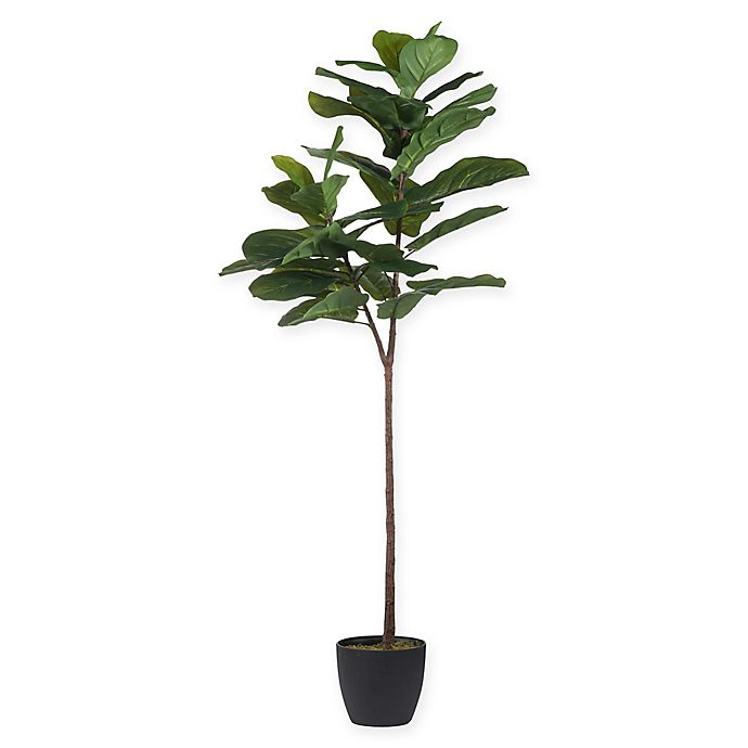 Alternate image 1 for A&B Home 59-Inch Artificial Fiddle Leaf Fig Tree in Planter