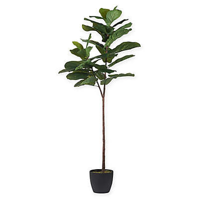 A&B Home 59-Inch Artificial Fiddle Leaf Fig Tree in Planter