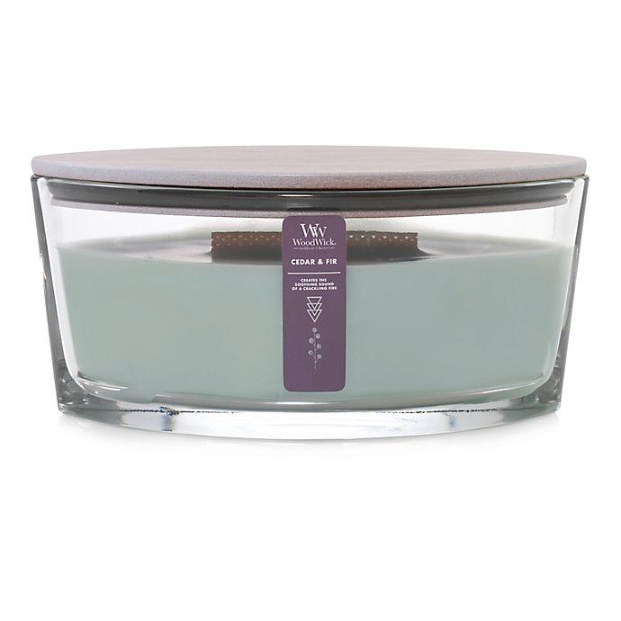Alternate image 1 for WoodWick® Cedar & Fir Large Oval Candle Jar
