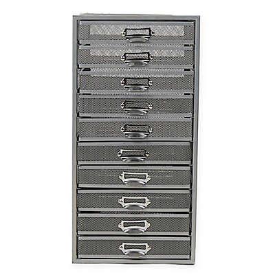 Mind Reader 10-Drawer Mesh Storage Cart