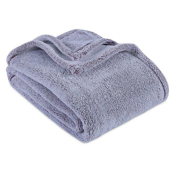 Alternate image 1 for Berkshire Blanket® Frosted PrimaLush Throw Blanket in Purple