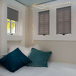 Redi Shade Cordless Room Darkening 72-Inch Length Pleated Shades in Grey (Set of 4)