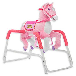 Rockin' Rider Sage Spring Rocking Horse in Pink