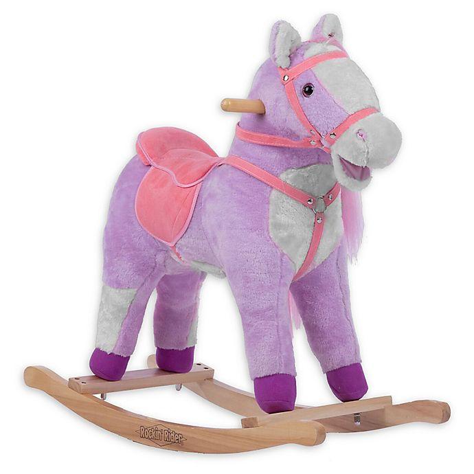 Alternate image 1 for Rockin' Rider Lilac Rocking Horse in Purple