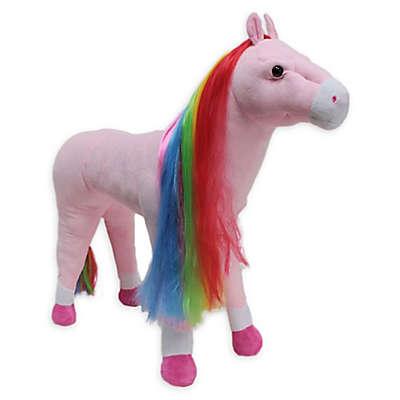 Rockin' Rider Rainbow Standing Horse in Pink