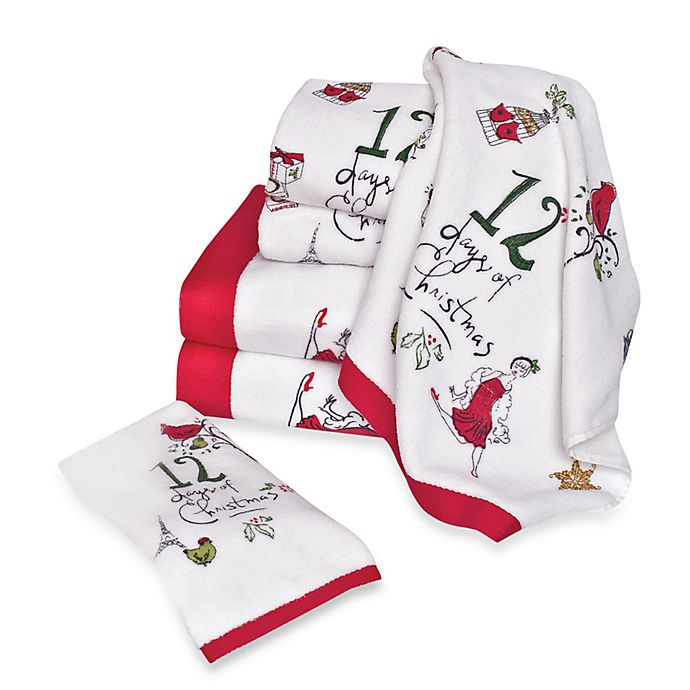 Lenox 12 Days Of Christmas Bath Towels