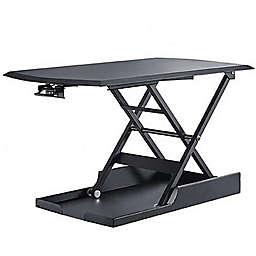 Mind Reader Sit and Stand Desktop Converter in Black