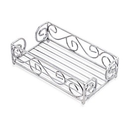 Scroll Guest Towel Holder in Brushed Silver