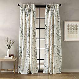 Botanical Pinch Pleat Window Curtain Panel