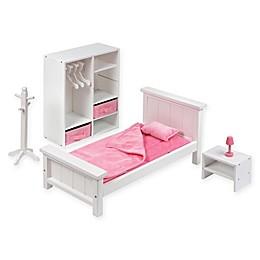 Badger Basket Doll Bedroom Furniture Set in White
