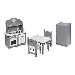 Badger Basket Doll Kitchen Furniture Set in Grey