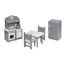 Badger Basket Doll Kitchen Furniture Set in Grey