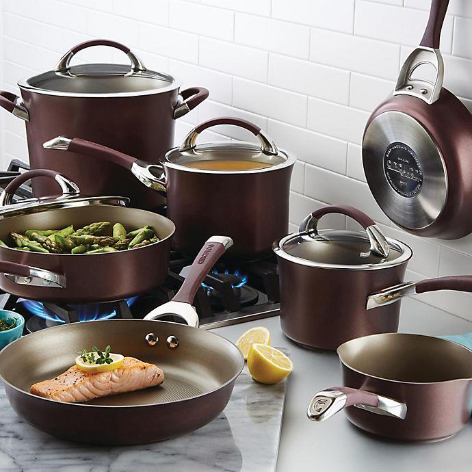 Alternate image 1 for Circulon® Symmetry™ Nonstick Hard-Anodized 11-Piece Cookware in Merlot