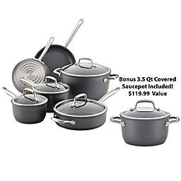 Anolon® Accolade Nonstick Hard Anodized 10-Piece Cookware Set Plus Bundle in Moonstone