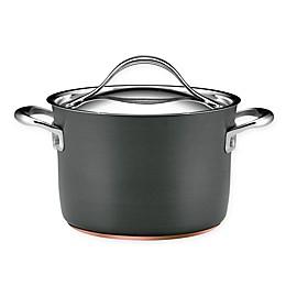 Anolon® Nouvelle Copper Stainless Steel 4 qt. Covered Soup Pot