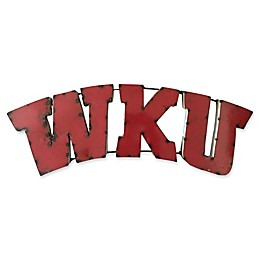 Western Kentucky University Recycled Metal Wall Décor in White/Red