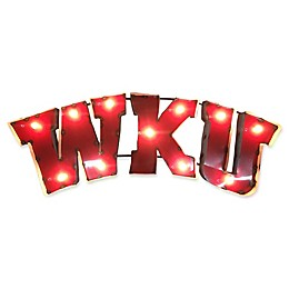 Western Kentucky Recycled Metal Wall Décor in Red/White