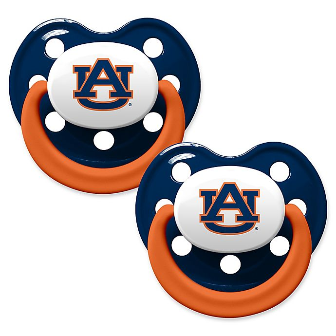 Alternate image 1 for Auburn University 2-Pack Hole Shield Logo Pacifiers